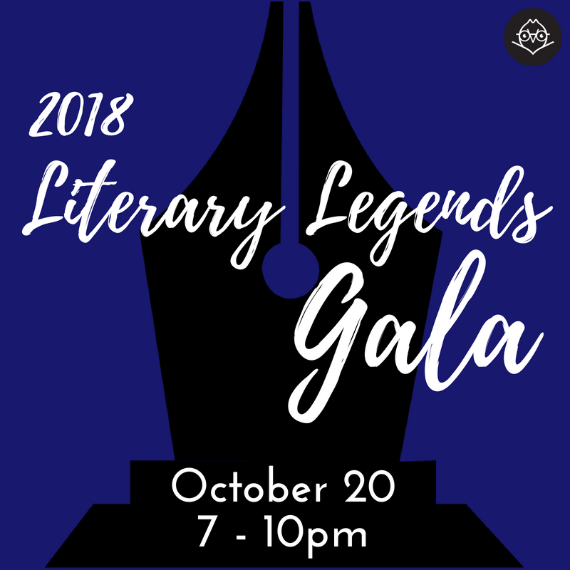 Literary Legends - October 20 - Logo on Blue Square