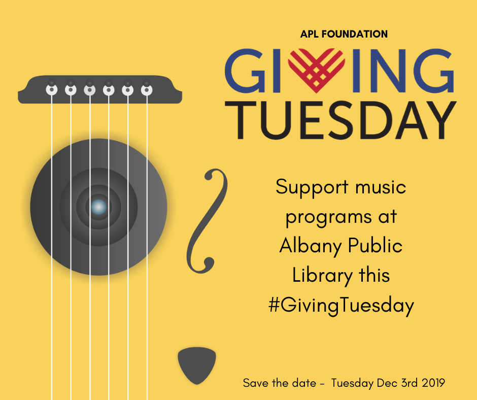 Guitar Strings and Giving Tuesday logo